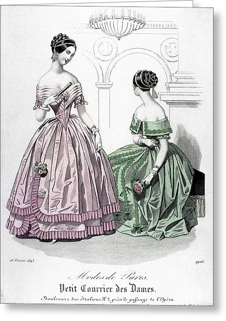 Ball Gown Greeting Cards - Womens Fashion, 1843 Greeting Card by Granger