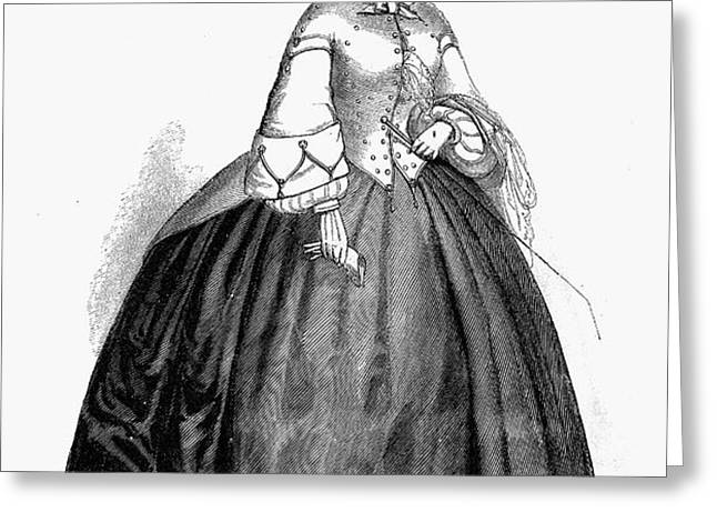 WOMENS FASHION, 1857 Greeting Card by Granger
