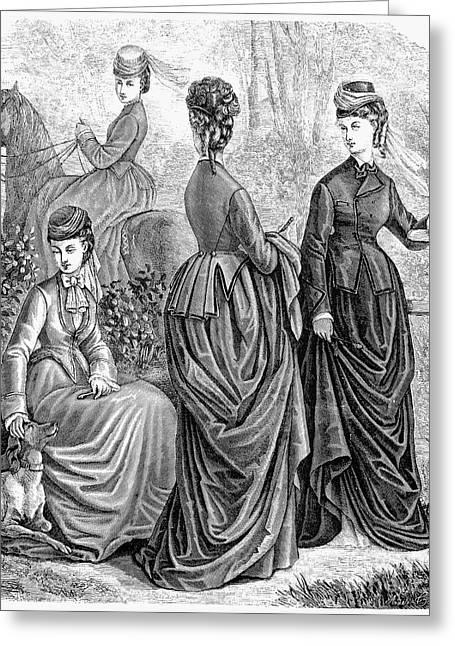 Womens Fashion, 1873 Greeting Card by Granger