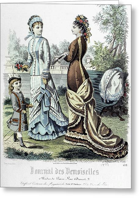 Demoiselles Greeting Cards - Womens Fashion, 1877 Greeting Card by Granger