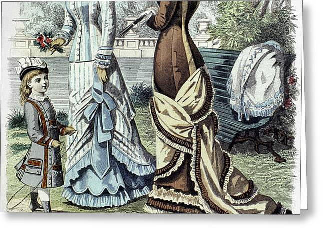 WOMENS FASHION, 1877 Greeting Card by Granger
