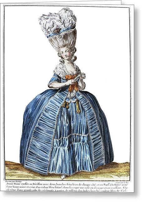 Pannier Greeting Cards - WOMENS FASHION, c1780 Greeting Card by Granger