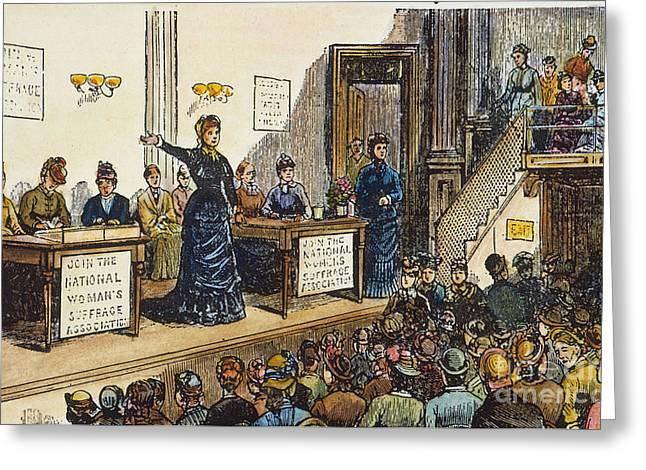 1870s Greeting Cards - WOMENS RIGHTS, 1870s Greeting Card by Granger