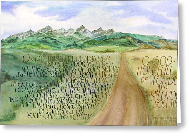 Faithfulness Greeting Cards - Wonder and Splendor I Greeting Card by Judy Dodds