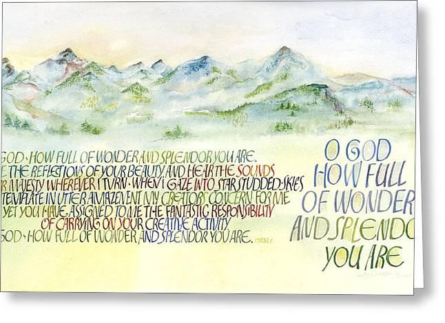 Wonder Splendor II Greeting Card by Judy Dodds