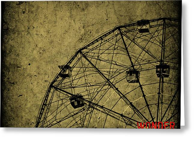 Amusements Greeting Cards - Wonder Wheel Greeting Card by Evelina Kremsdorf