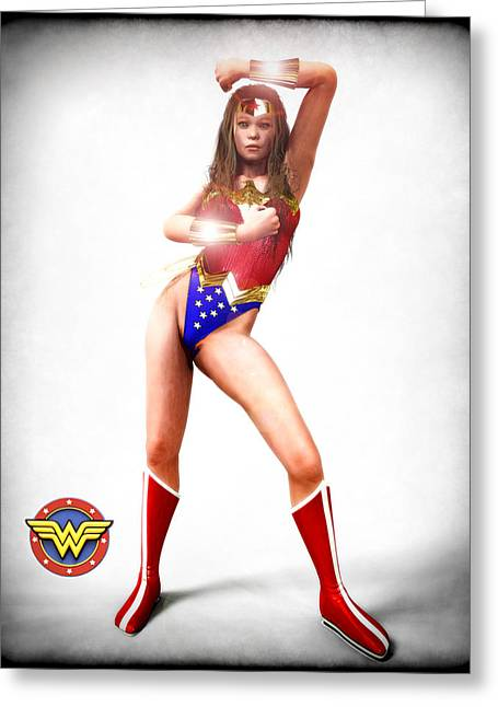 Frederico Borges Greeting Cards - Wonder Woman Greeting Card by Frederico Borges