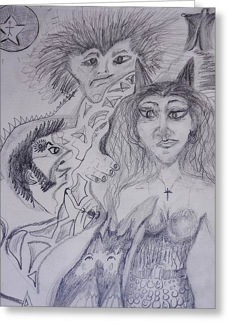 Human Spirit Drawings Greeting Cards - Wonderlust Greeting Card by Michael Braun