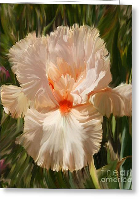 Wonderous Greeting Cards - Wonderous Iris Greeting Card by Diane E Berry
