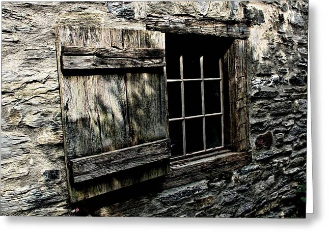 Julie Williams Greeting Cards - Wood and Stone Greeting Card by Julie Williams