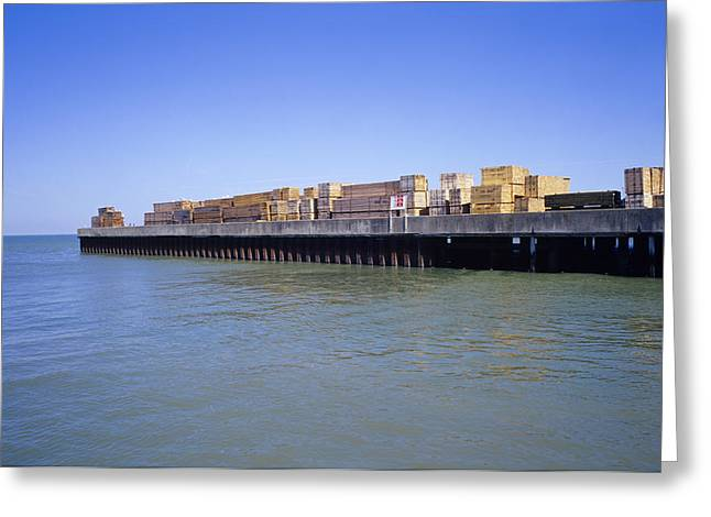Port Kent Greeting Cards - Wood Cargo Greeting Card by Carlos Dominguez