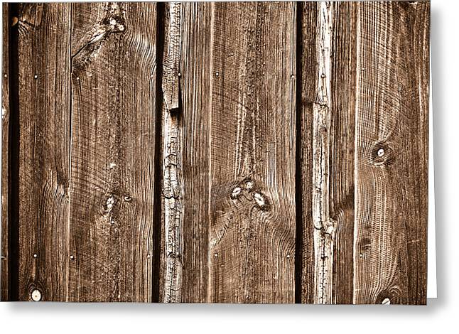 Floorboards Greeting Cards - Wood Fence Deck Background Greeting Card by Brandon Bourdages