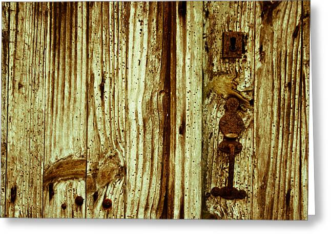 French Door Greeting Cards - Wood Grain Greeting Card by Nomad Art And  Design