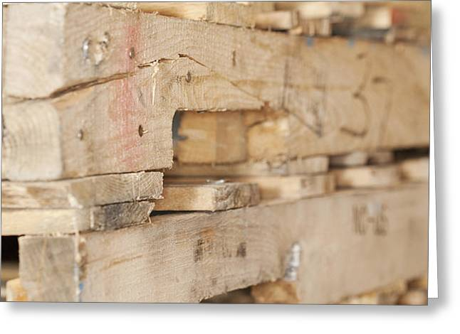 Wood Pallets Greeting Card by Shannon Fagan