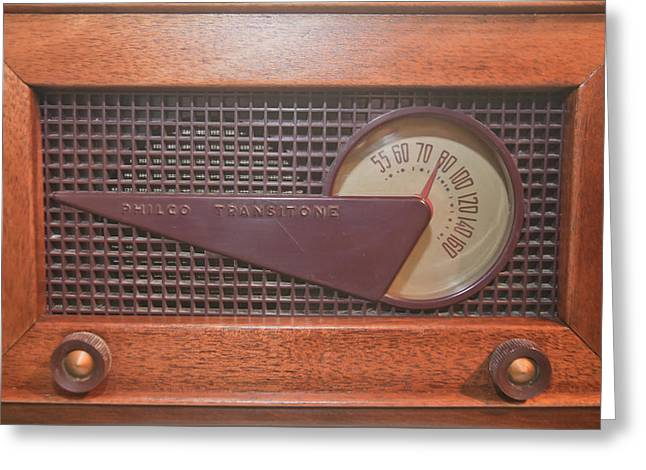 Mid Century Radio Greeting Cards - Wood Radio Greeting Card by Matthew Bamberg
