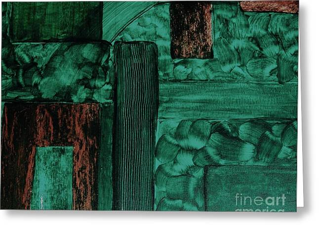 Wood Rustic Abstract Greeting Card by Marsha Heiken