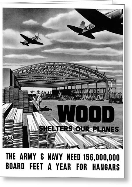 Wwii Greeting Cards - Wood Shelters Our Planes Greeting Card by War Is Hell Store