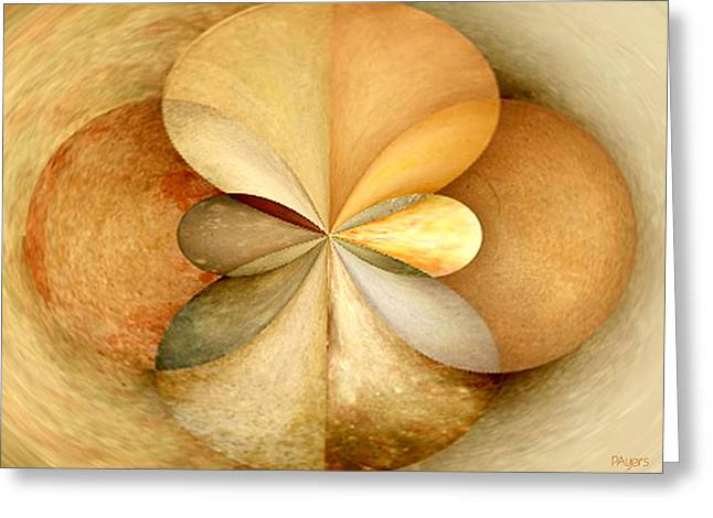 Beige Abstract Greeting Cards - Wood Study 04 Greeting Card by Paula Ayers