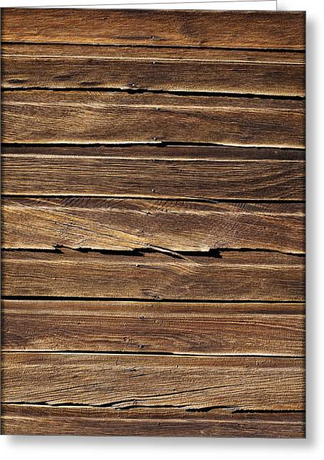 Wood Grain Greeting Cards - Wood Texture Greeting Card by Kelley King