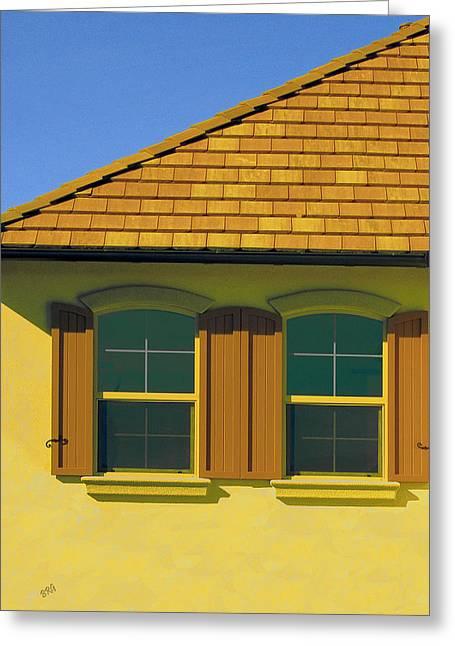 Woodbury Greeting Cards - Woodbury Windows No 2 Greeting Card by Ben and Raisa Gertsberg