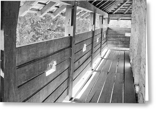 Wooden Platform Greeting Cards - Wooden balcony Greeting Card by Gabriela Insuratelu
