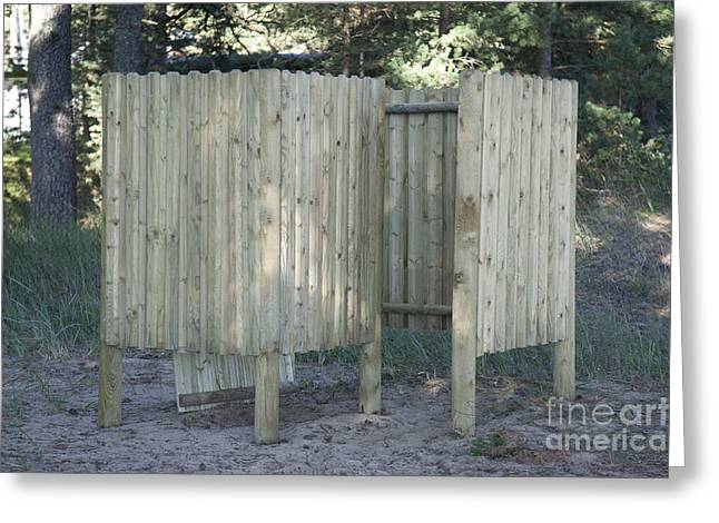 Wooden Beach Dressing Rooms Greeting Card by Jaak Nilson