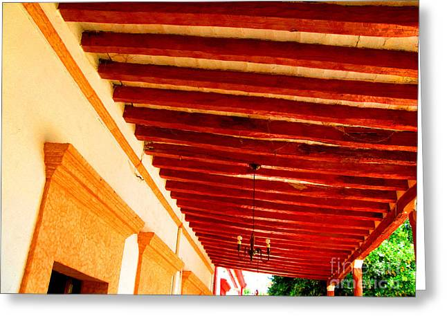 Wooden Beams by Michael Fitzpatrick Greeting Card by Olden Mexico
