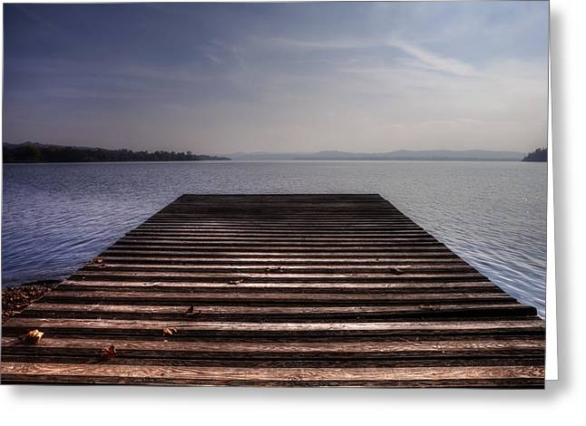 Wooden Dock Greeting Cards - Wooden Bridge Greeting Card by Joana Kruse