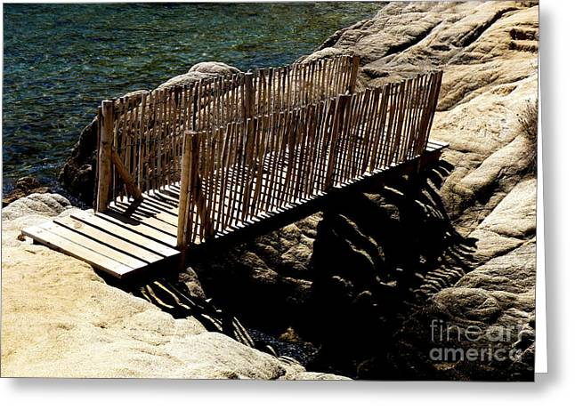 Lainie Wrightson Greeting Cards - Wooden Bridge Greeting Card by Lainie Wrightson