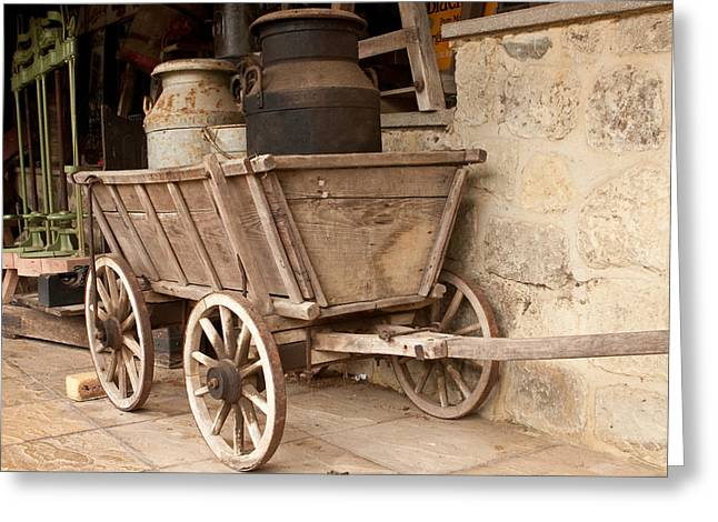 Wooden Wagons Greeting Cards - Wooden Cart Greeting Card by Tom Gowanlock