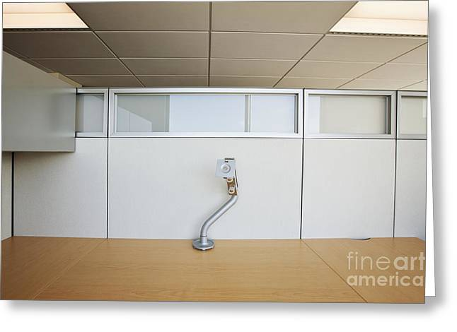 Office Cubicle Greeting Cards - Wooden Desks Being Stored Greeting Card by Jetta Productions, Inc