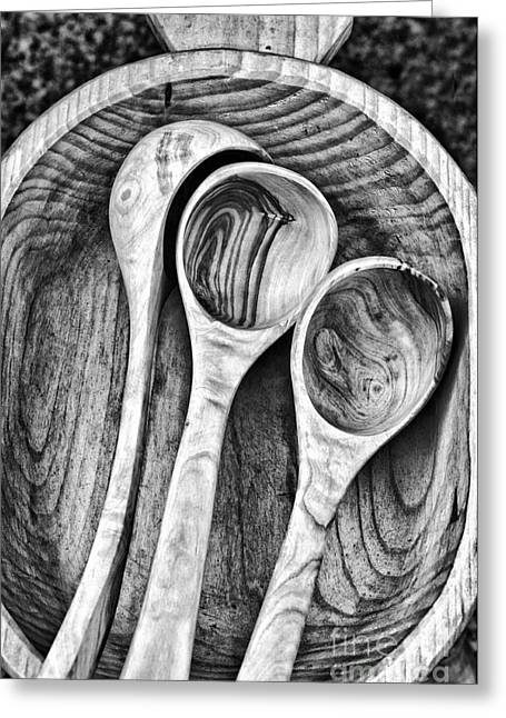 Dipper Greeting Cards - Wooden ladles Greeting Card by Silvia Ganora