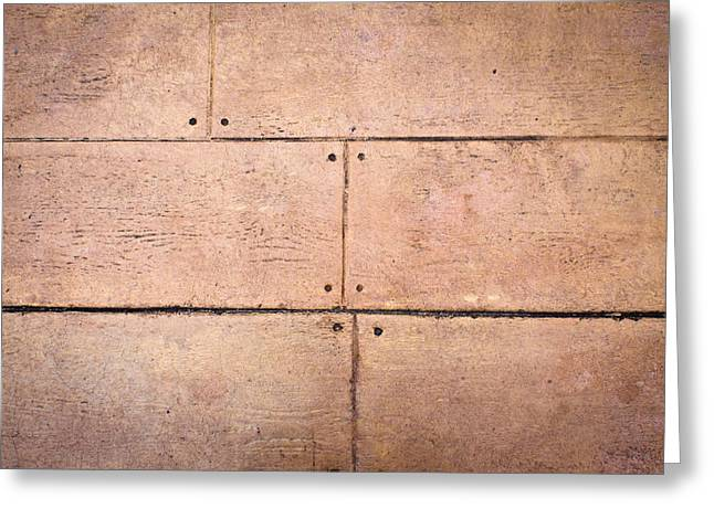 Carpentry Greeting Cards - Wooden panels Greeting Card by Tom Gowanlock