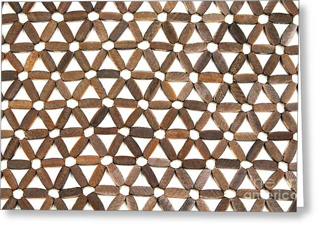 Copy Space Greeting Cards - Wooden Pattern Greeting Card by Blink Images