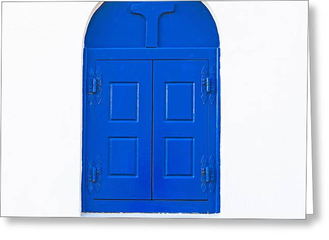White Wall Greeting Cards - Wooden Window Greeting Card by Joana Kruse