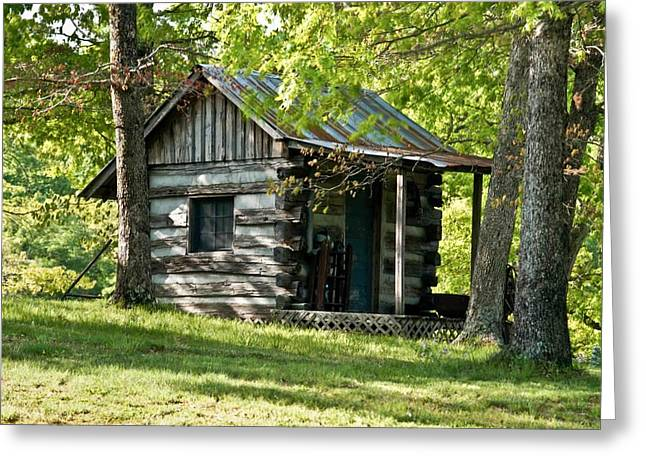 Tin Roof Greeting Cards - Woodland Cabin 2 Greeting Card by Douglas Barnett