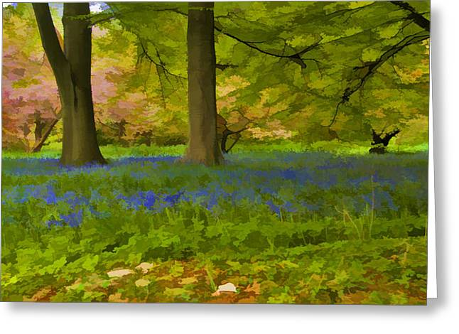 Woodland Watercolour Greeting Card by Trevor Kersley