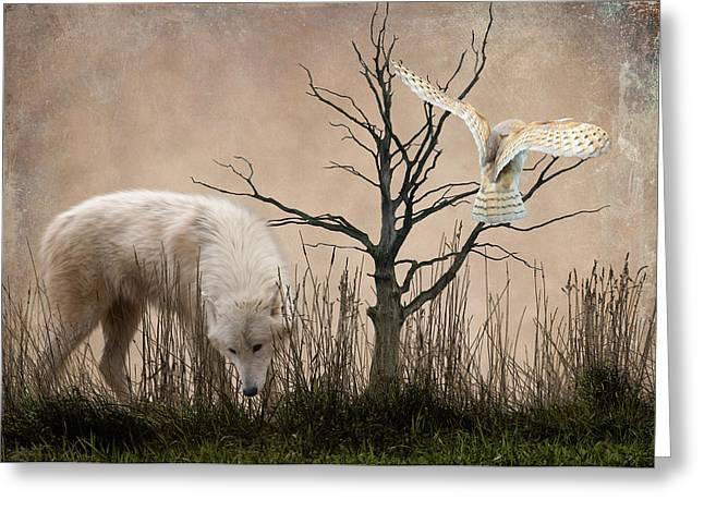 Woodland Wolf Greeting Card by Sharon Lisa Clarke