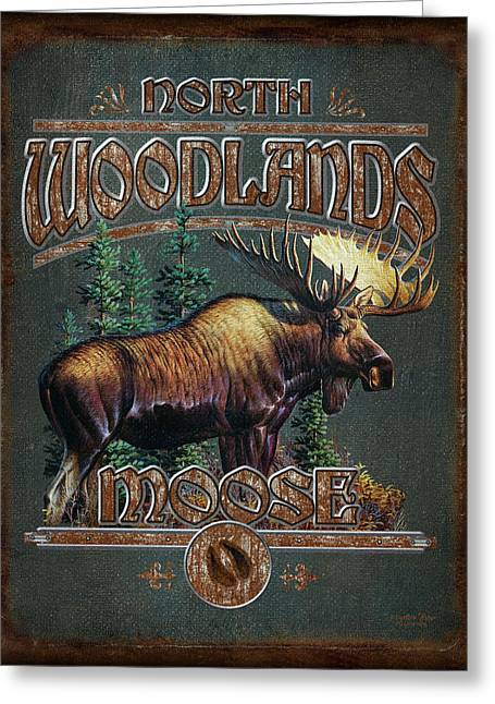 Game Greeting Cards - Woodlands Moose Greeting Card by JQ Licensing