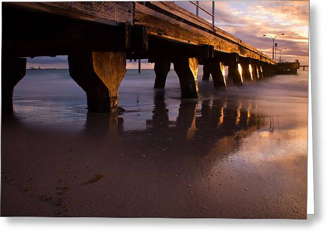 Woodman Point Jetty Greeting Card by Heather Thorning