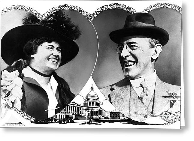 First-lady Greeting Cards - Woodrow And Edith Wilson Greeting Card by Granger