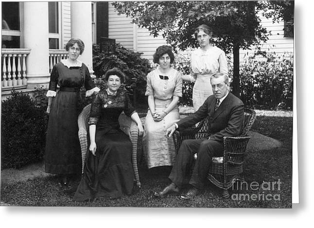 Ellenore Greeting Cards - Woodrow Wilson Family Greeting Card by Granger