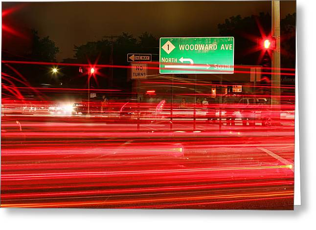 M1 Racing Greeting Cards - Woodward Greeting Card by Gordon Dean II