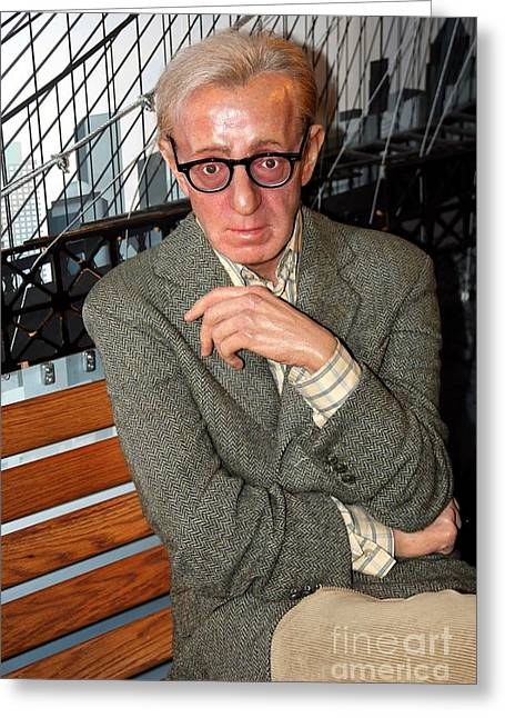 Woody Allen Greeting Cards - woody Allen Greeting Card by Sophie Vigneault