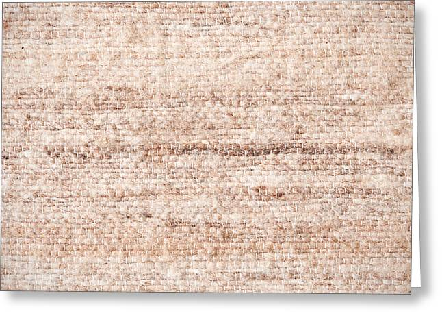 Beige Background Greeting Cards - Wool background Greeting Card by Tom Gowanlock