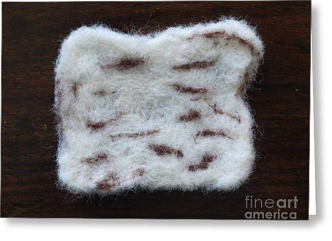 Wool Tapestries - Textiles Greeting Cards - Wool Matzah Greeting Card by Heather Hennick
