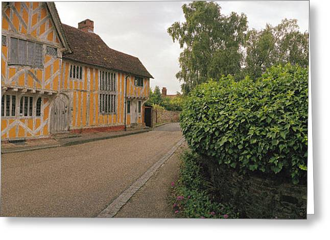 Wool Merchant House Lavenham Greeting Card by Jan W Faul