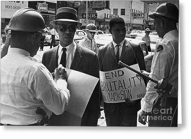 WOOLWORTHS PROTEST, 1963 Greeting Card by Granger