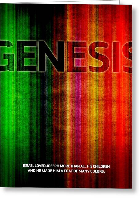 Bible Digital Art Greeting Cards - Word Genesis 2 Greeting Card by Jim LePage