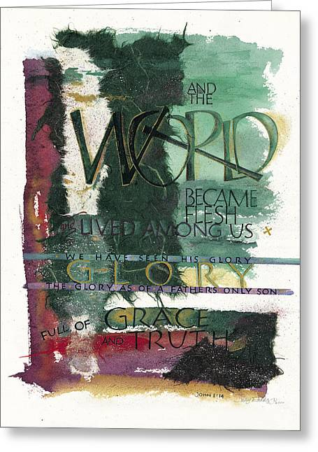 Faithfulness Greeting Cards - Word Greeting Card by Judy Dodds
